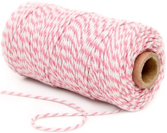Bakers Twine, 12 Ply Bakers Twine, 100 Yard Spool of Twine, Light Pink Bakers Twine, Baby Shower Favor Decor, Birthday Twine, Wedding Favors