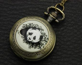 Panda Pocket watch Necklace, 2525M