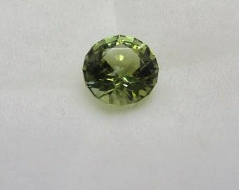 Light Green Tourmaline Gemstone 6.5mm Round