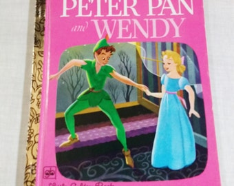 A Little Golden Book,Walt Disney's Peter Pan and Wendy 1978, D110 Collectible / Neverland / Captain Hook / Wendy/ Mermaids / Tinkerbell