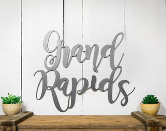 Grand Rapids (steel sign)