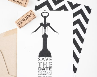 Vineyard Save The Date - Wine Bottle Save The Date - Napa Valley Vineyard -  Rustic Vineyard Invitation