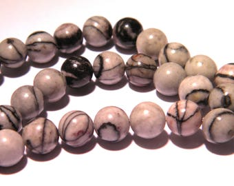20 beads 8mm - Jasper - gemstone fine PG264