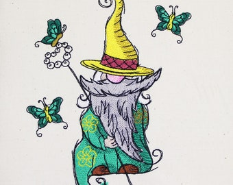 Butterfly gnome 5x7