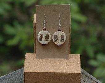 Wine Cork Earrings- Gift- Upcycled- Keenan