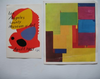 Vintage POSTCARDS FINE ART Calder Freud Paolozzi Kirchner Grosz Hoffman 1960s and 1970s