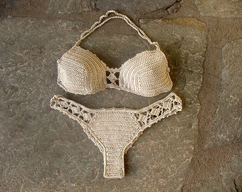 Crochet bikini, Crochet swimsuit, Brazilian bikini, crochet bathing suit, cheeky bikini, Crochet top, Crochet bikini bottom, Lace bikini