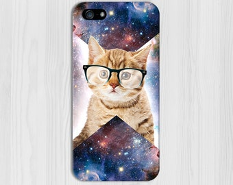 Geometric Cat in Space Case for iPhone 8 6 Plus iPhone X  Samsung Galaxy s9 edge s6 and Note 8  S8 Plus Phone Case, Google Pixel 2