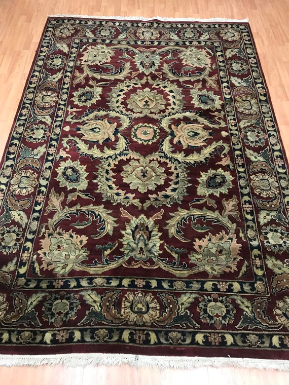 6' x 9' Indian Agra Oriental Rug - Full Pile - Hand Made - 100% Wool