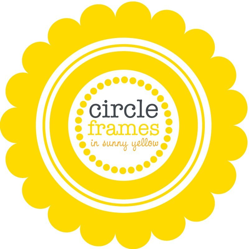 Digital Clip Art - Circle Frames in Sunny Yellow from viveradesign ...