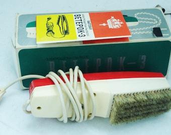 Electro Brush Vacuum Cleaner-Cloths Brush Vacuum Cleaner-Vintage Appliance-Hand Vacuum Cleaner-Veterock-3 electro brush-Soviet brush cleaner