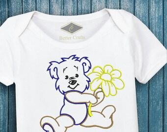 50% OFF Cute Bear - Machine Embroidery Applique Design 4 Sizes