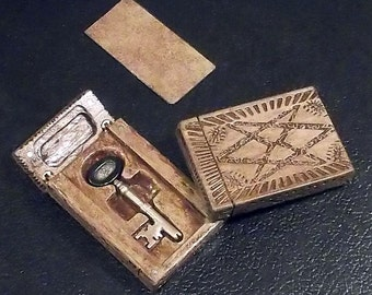 Supernatural working Puzzle Box and bronze Key to the Men of Letters Bunker