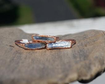 Kyanite Ring/ Kyanite Blade Electroformed Ring/ Copper Electroformed Jewelry