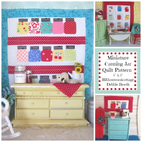 Miniature Canning Jar Quilt Sewing Pattern - Digital Download
