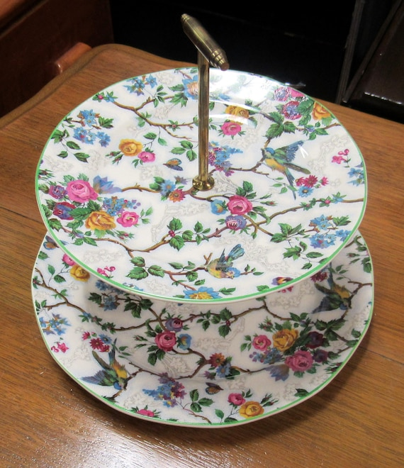 Royal Tudor Lorna Doone two tiered plate