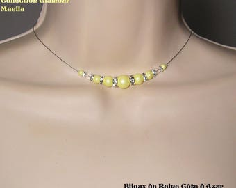 wedding necklace Swarovski pastel yellow stock - Glamour Collection - lily - wedding ceremony