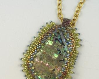 Sea Treasure Paua Shell Pendant Necklace