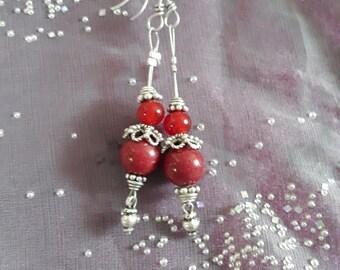 Earrings made of genuine gemstones