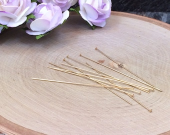 Head Pins, Headpins, Gold Filled Headpins, Jewelry Findings, Jewelry Supplies, 5 Pieces