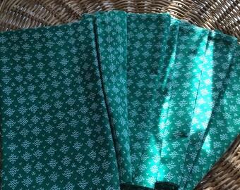 Vintage green napkins- set of 6
