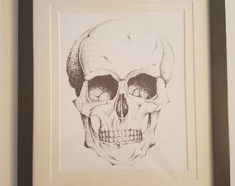 Pointalism skull
