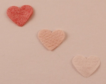 Plantable Hearts Wedding Confetti pale pink peach coral, plantable paper, eco friendly wedding table decorations