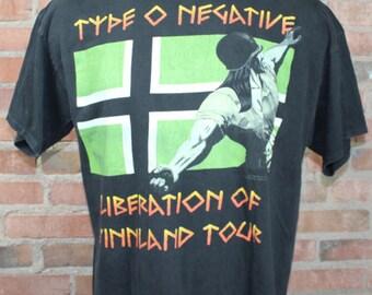 Vintage Type O Negative 1995 Liberation Of Vinnland Tour T Shirt XL