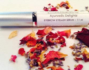 100% Natural Ayurvedic eyelash serum oil eyebrow  growth conditioner 11 ml - thicker longer healthier lashes rosemary EO-  3 DAY SALE