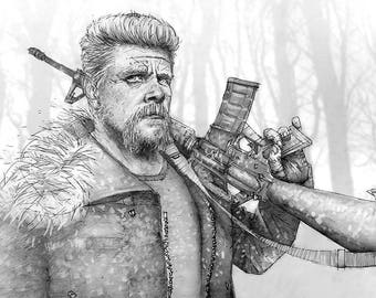 Abraham Giclee print of a pencil drawing