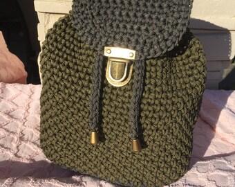 backpack crocheted for girl, teen, baby