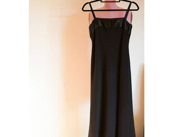 1990s Ralph Lauren black dress