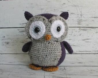 Flower the Owl, Crochet Owl Stuffed Animal, Owl Amigurumi, Plush Animal, Made to Order