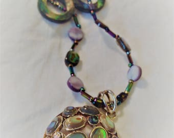 Iridescent Shell Necklace - 10.5 inches