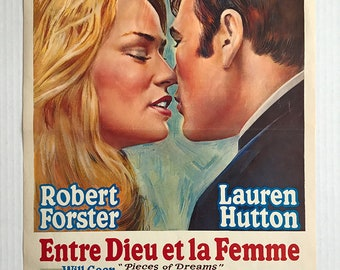 ENTRE DIEU Et La FEMME  |  Original Poster  |  Belgium |  Pieces Of Dreams  |  1970  |  Robert Forster