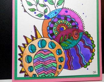 Greeting Card, Blank Card, Watercolors, Handmade, original design