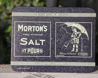 Vintage Morton's Salt Company Metal Sign Home Decor, Vintage Advertising