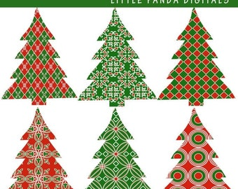 70% OFF SALE Christmas Tree Digital Clip Art Embellishments - Personal and Commercial Use - Instant Download - C40