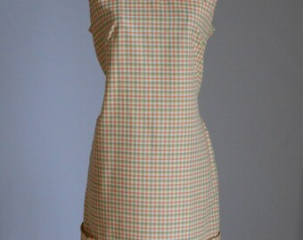 Vintage Dress 1960s Mod Dress Plaid Cotton Dress Made By Shaker Square by Bill Sims Sleeveless Summer Shift Dress Vintage Clothing