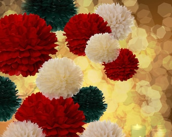 Tissue Paper Pom Poms Set of 20//Weddings//Ceremony//Decorations//Reception//Nursery//Backdrop//Christmas decor
