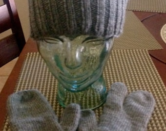 Watchman Skull Cap Beanie with Shooters Mittens