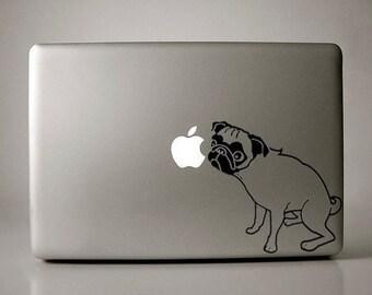 Pug Decal Macbook Laptop