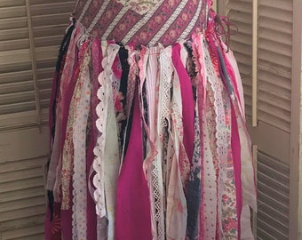 Flowers Are A Girls Best Friend~ Upcycled Dress, Festival Clothing, BoHo Clothing, Rag Dress, Fairy Dress, Cochella Clothing, BoHo Dress