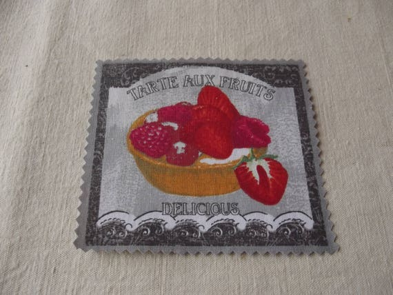 18 - APPLIQUE FUSIBLE COTTON BAKING PASTRY