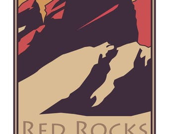 Red Rocks Contemporary Poster