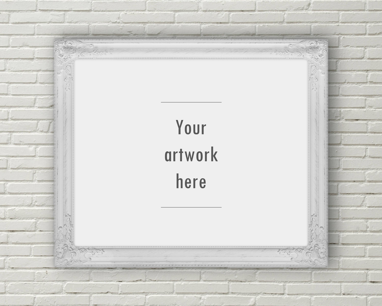 Ornate frame mockup, horizontal mockup, 10 x 8 inches, 5 x 4 inches ...