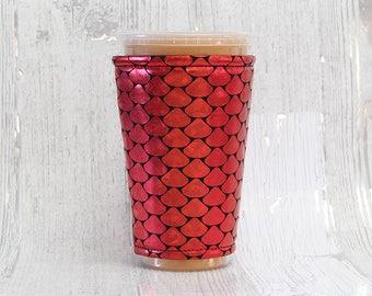 Vereist, Meerjungfrau, gemütlich, Kaffee gemütlich, Metallic Tasse Kaffee gemütlich, Tasse Ärmel Kaffee gemütlich, Kaffee Manschette, umweltfreundlich, isoliert Tasse Ärmel