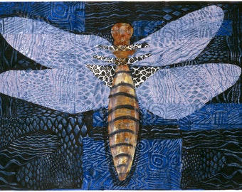 Dragonfly - Fine art digital prints printed on quality paper. Limited edition, signed & numbered by the artist Carolyn Shattuck