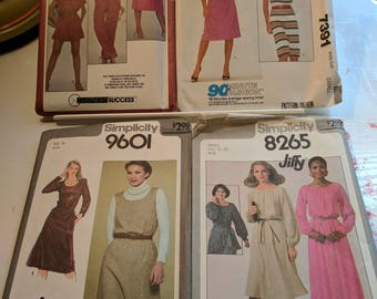 Simplicity/McCalls Women's Dress Pattern Bundle