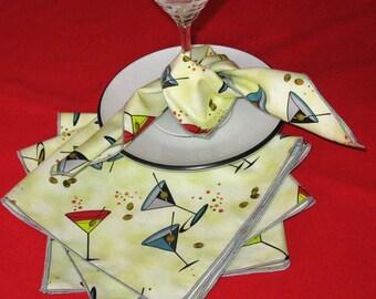 Napkin Set Martini Anyone